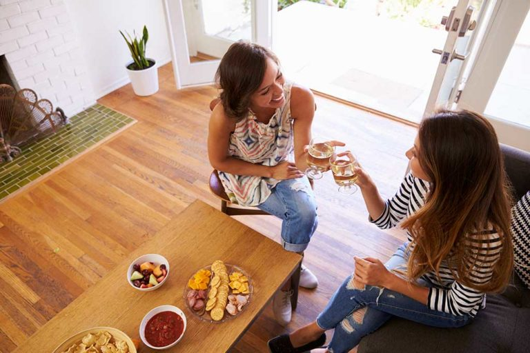 Enjoy inviting people over to your home after you have new flooring installed.